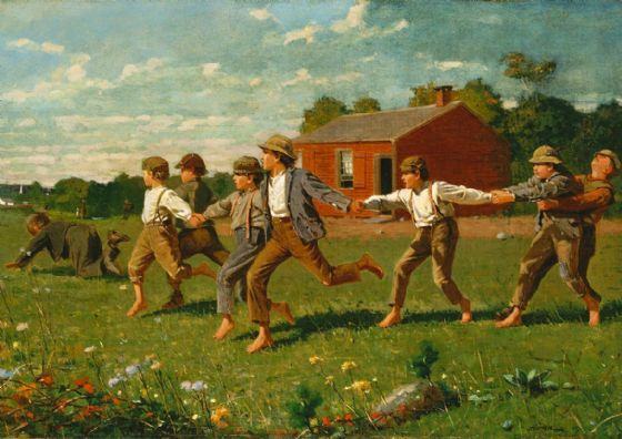 Homer, Winslow: Snap The Whip, 1872. Fine Art Print/Poster (5215)